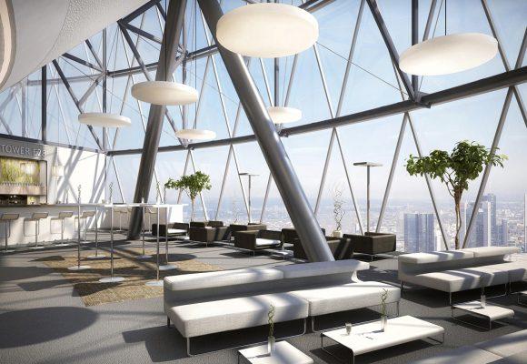 Büroetage Visualisierung in Frankfurt